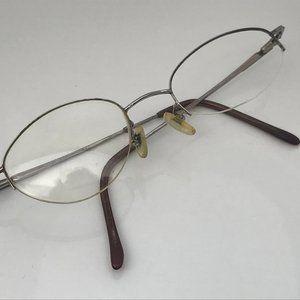 Nine West Vintage Frame Silver Tone Glasses Frame